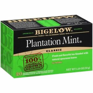 Bigelow Perfectly Mint (Formerly Plantation Mint) Tea 20 Count (Pack of 1)