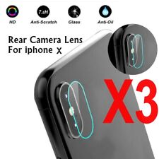 3x Rear Camera Lens 7.5H Tempered Glass Protector Guard Cover For iphone 10 / X