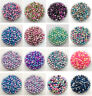 Acrylic Beads 3-12mm With Hole/No Hole Rainbow Color Round 13 Color