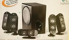 Logitech X-530 5.1 Computer Speakers Subwoofer With Box *Excellent Condition*