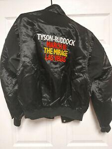 Vintage 1991 Mike Tyson Donovan Ruddock Large Satin Jacket Mirage NWOT Las Vegas