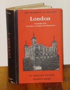 1st Print The Buildings Of England London Vol. 1 Nikolaus Pevsner Penguin 1957