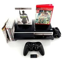 Sony PlayStation 3 40GB Black Console Bundle Lot w/ 6 Games, Controller Tested