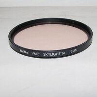Genuine Vivitar VMC Skylight 1A 72mm Lens Filter Made in USA Multi-Coated