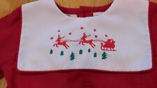Vintage Baby Outfit/Romper~CARRIAGE BOUTIQUE~Christmas Santa & Sleigh 12 Months