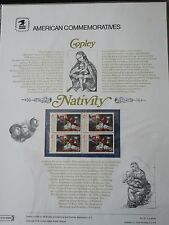 #72 13c Copley Christmas Nativity USPS Commemorative Stamp Panel #1701