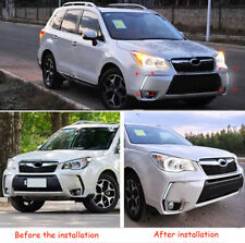 White LED Car Front Daytime Running Light Lamp DRL Fit For Subaru Forester 13-19