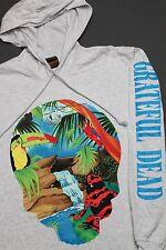 L * NOS vtg 90s 1993 GRATEFUL DEAD hoodie L/S t shirt BROCKUM