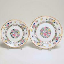 TWO (2) PUIFORCAT LIMOGES FRANCE TUNG HAI PLATES, 1 SALAD, 1 BREAD BUTTER
