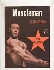 MUSCLEMAN Reg Park Journal bodybuilding muscle magazine/PETER FARRAR 4-53 (UK)