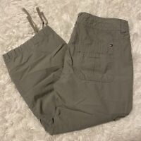 """Tommy Hilfiger Womens Size 6 Gray Cropped Cargo Pants 22"""" Inseam EUC"""