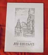 Alt-Biberach , 15 Federzeichnungen , E. u W. Adrian , 1982 , signiert