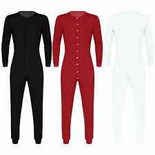 Men's Sexy Pyjamas Long Sleeve Button Down All In One Jumpsuit Pajamas Home Wear