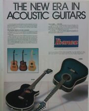 retro magazine advert 1984 IBANEZ ACOUSTIC GUITARS