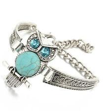 Vintage Owl Bracelet Ethnic Style Boho Bohemian Turquoise Women Jewelry BL3
