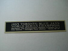 Toronto Blue Jays 1993 World Series Nameplate For A Baseball Jersey Case 1.5 X 6