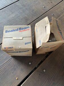 "Wagner Sealed Beam 7"" Round Headlight #6014 12v Car Truck Motorcycle Head Light"