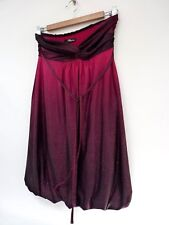Ladies Fab Jane Norman Pink Purple Mix Sparly Strapless Thigh Party Dress 12, Vg