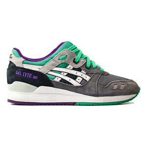 "Asics Gel Lyte III ""Grape"" Grey White Teal Purple H405N-1101 Men's Size US 8 US"