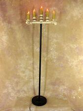Spine Bone Candelabra Floor Model w/ Five Flicker Candles, Halloween Prop, NEW