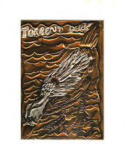 """""""TORRENT DUCK"""" by RUTH FREEMAN EMBOSSED COPPER FOIL 8"""" X 10"""""""