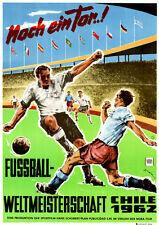 Fussball-Weltmeisterschaft Chile 1962 ORIGINAL DIN A1 Kinoplakat TOLLES MOTIV