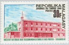 MADAGASCAR MALAGASY 1969 600 424 Telecommunication & Post Building Stamp Day MNH