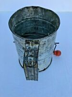 Vintage Bromwell's Measuring Sifter Patent No. Red Wood Knob Kitchen Utensil