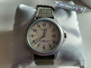 Lorus Men's Titanium Watch with Swim-Safe Strap. Brand new boxed. Model RXD425L8