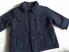 Baby Gap Sz 12-18 Toddler Boy Coat Jacket Pockets Fall Winter Black
