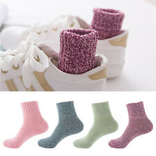 b4696281f0ef1 5 Pairs Women Wool Cashmere Thick Winter Warm Socks Soft Solid Casual  Sports AU