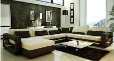 Designer Wohnlandschaft Ecksofa Sofa Couch Big U Form XXL Sitz Garnitur Stutt-BB