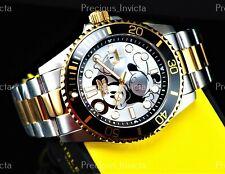 ➤Invicta Men's 43mm DISNEY® MICKEY MOUSE PRO DIVER  Quartz Gold Two Tone Watch