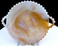 "IMPERIAL GLASS #3400 CANDLEWICK CARAMEL SLAG 2 HANDLED 8 5/8"" PLATE 1966-1977"