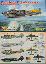 Caudron C-445 Goeland  Luftwaffe, RS- Models, Plastik, Neuheit