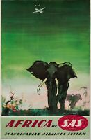 Original Vintage Poster - Otto Nielsen - Africa by SAS - Scandinavian Airlines