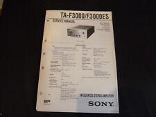 ORIGINALI service manual Sony ta-f3000 f3000es