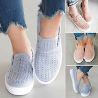 Women Flat Shoes FashionSports Loafers Ladies Girls Casual Slip On Sneakers New