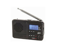 Portable AM/FM/SW Radio w/MP3 Player Digital Clock USB Rechargeable Battery