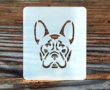 French Bulldog Face Painting Stencil 7cm x 6cm 190micron Washable Reusable