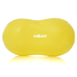 Milliard Peanut Ball Yellow Approximately 35x17 inch 90x45cm Physio Roll for and