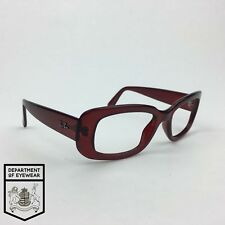 RAY BAN eyeglasses TRANSLUCENT RED frame MOD:RB 4122
