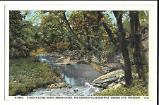 A Rocky Ledge Along Brush Creek, Kansas City, Mo PPC, Unposted by E C Kropp