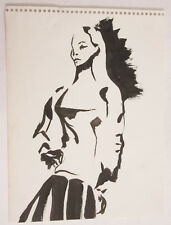 "Portrait Female Standing - Sketch Book - 9x12"" VINTAGE A005"