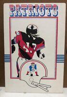 Rare Vintage 1974 New England Patriots Cardboard Sign NFL FLEER BIG 8x11.5
