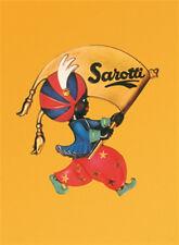 Sarotti gelbes Blechschild 8x11 cm Blechkarte Sign PC-201/396