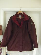 REGATTA Jacket Burgandy Red Waterproof HYDRAFORT Coat with Hood UK Size 18