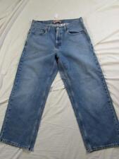 Boys Levi 569 Loose Straight Fit Faded Denim Jeans Sz 16 Husky Measures 34x29