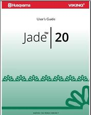 HUSQVARNA VIKING USER'S GUIDE  MANUAL FOR JADE 20  PDF on CD