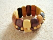 Beaded Wooden Bracelet Wristband Bangle Mens Womens Boys Girls Ladies Jewellery